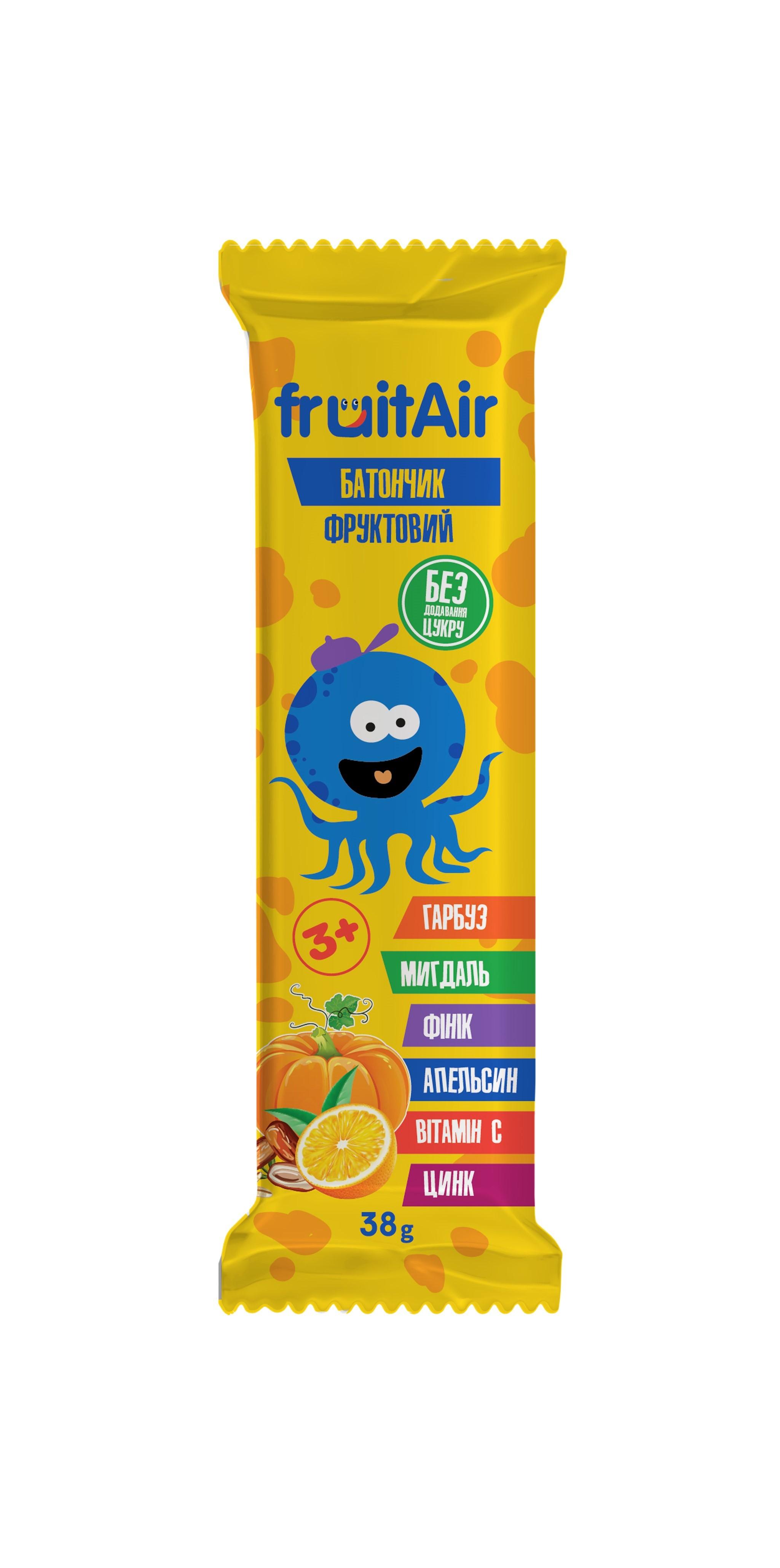 Фруктовый батончик «fruitAir» с миндалем и тыквой